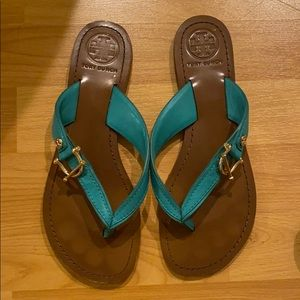 Tory Burch Turquoise Thong Sandals
